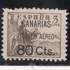 Sellos: ,,CANARIAS 25 SIN GOMA, SOBRECARGADO, VARIEDAD -R- DE AEREO ROTA, . Lote 28570802