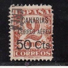 Sellos: ,,CANARIAS 23 USADA, SOBRECARGADO, VARIEDAD -R- DE AEREO ROTA, . Lote 28570840
