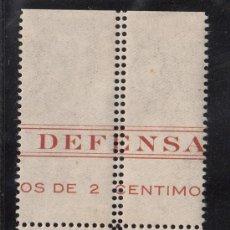 Sellos: ,,CANARIAS 21EN B4 CON CHARNELA, VARIEDAD DOBLE PERFORACION CENTRAL VERTICAL CON CABECERA DE PLIEGO. Lote 28570959