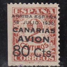 Sellos: ,,CANARIAS 21 SIN CHARNELA, SOBRECARGADO, VARIEDAD MARGEN IZDA. SIN DENTAR. Lote 28571042