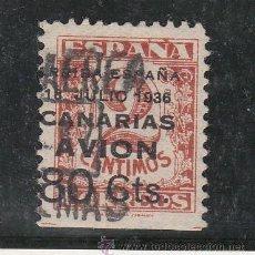 Sellos: ,,CANARIAS 21 USADA, SOBRECARGADO, VARIEDAD MARGEN INFERIOR SIN DENTAR. Lote 28571076