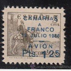 Sellos: ,,CANARIAS 13 IMPRESION PATINADA SIN GOMA, SOBRECARGADO, VARIEDAD 1ª Y 3ª -A- CANARIAS MAS PEQUEÑAS. Lote 28582741