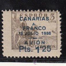 Sellos: ,,CANARIAS 13B SIN GOMA, SOBRECARGADO, VARIEDAD 18 JULIO MAS UNIDOS . Lote 28582835