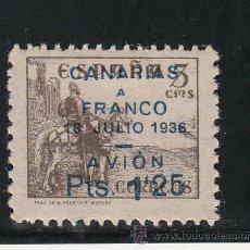 Sellos: ,,CANARIAS 13 SIN GOMA, SOBRECARGADO, VARIEDAD (´) AL REVES EN 1`25). Lote 28582879