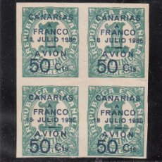 Sellos: ,,CANARIAS 11 EN B4 SIN GOMA, SOBRECARGADO,. Lote 28583410