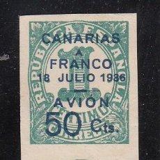 Sellos: ,,CANARIAS 11 PAREJA SIN GOMA, SOBRECARGADO, . Lote 28583429