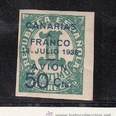 Sellos: ,,CANARIAS 11 CON CHARNELA, SOBRECARGADO, . Lote 28583513