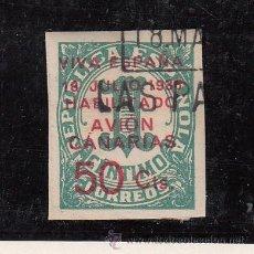 Sellos: ,,CANARIAS 8 USADA, SOBRECARGADO, VARIEDAD 1ª -A- DE CANARIAS CON ACENTO . Lote 28595806
