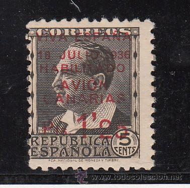 ,,CANARIAS 7 SIN GOMA, SOBRECARGADO, (Sellos - España - Guerra Civil - Beneficencia)