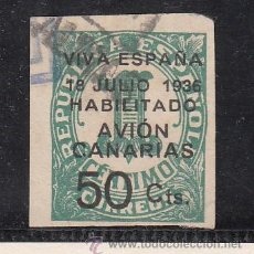 Sellos: ,,CANARIAS 4A USADA, SOBRECARGADO, . Lote 28595975