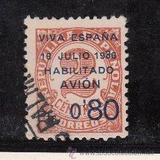 Sellos: ,,CANARIAS 2HAB USADA, SOBRECARGADO, VARIEDAD -3- DE 1936 GRANDE . Lote 28596075