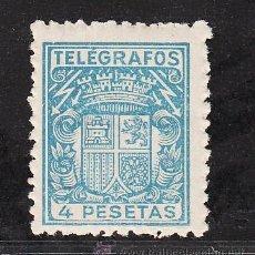 Sellos: ,,TELEGRAFOS 74 SIN CHARNELA, ESCUDO DE ESPAÑA, . Lote 52288218