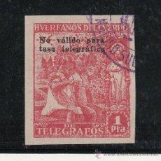 Sellos: ,,BENEFICENCIA HUERFANOS TELEGRAFOS 20S USADA, SOBRECARGADO -NO VALIDO PARA TASA TELEGRAFICA-. Lote 28537048