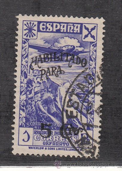,,BENEFICENCIA HUERFANOS DE CORREOS 38 USADA, (Sellos - España - Guerra Civil - Beneficencia)