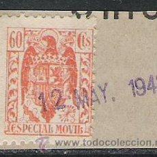 Sellos: 689-SELLO FISCAL FRANCO GUERRA CIVIL SIN PIE IMPRENTA SPAIN REVENUE 60 CENTIMOS. Lote 28549636