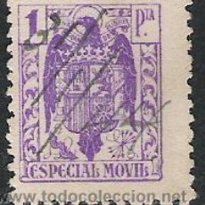 Sellos: 1922-SELLO FISCAL FRANCO GUERRA CIVIL SIN PIE IMPRENTA SPAIN REVENUE 1 PESETA. Lote 28550676