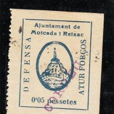 Sellos: ,,LOCAL REPUBLICANO MONCADA Y REIXAC (BARCELONA) 896 SIN CHARNELA, CORREU, ROTURA INFERIOR DERECHA. Lote 28809200