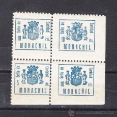 Sellos: ,,LOCAL NACIONALISTA MONACHIL (GRANADA) B615EA EN B4 CON B615 SIN CHARNELA, 5 CTS. Y 10 CTS. . Lote 28893392