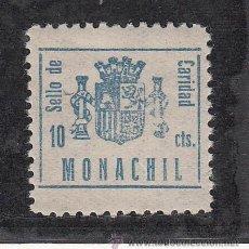Sellos: ,,LOCAL NACIONALISTA MONACHIL (GRANADA) B615 SIN CHARNELA, 10 CTS. CARIDAD, . Lote 28893424