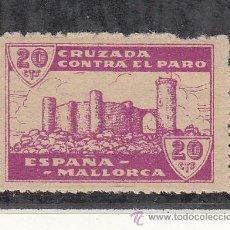 Sellos: ,,LOCAL NACIONALISTA MALLORCA B567 SIN CHARNELA, 20 CTS. CRUZADA CONTRA EL PARO . Lote 28895645