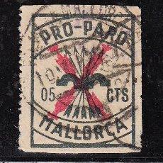 Sellos: ,,LOCAL NACIONALISTA MALLORCA 434 USADA CORREOS, 5 CTS. PRO PARO . Lote 28896048
