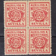 Sellos - ,,local nacionalista sevilla b838 papel crema sin charnela en b4, 25 cts. auxilios a necesitados - 28852053