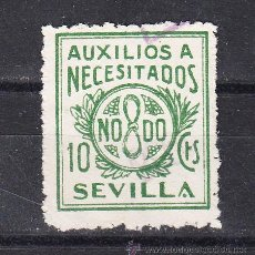 Sellos - ,,local nacionalista sevilla b837 usada, 10 cts. auxilios a necesitados - 28852137