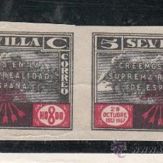 Sellos: ,,LOCAL NACIONALISTA SEVILLA 680/80A SIN DENTAR SIN CHARNELA, . Lote 29224739