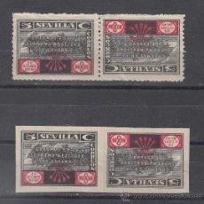 Sellos: ,,LOCAL NACIONALISTA SEVILLA 679T, 680T SIN DENTAR CAPICUA CON CHARNELA, . Lote 49918905