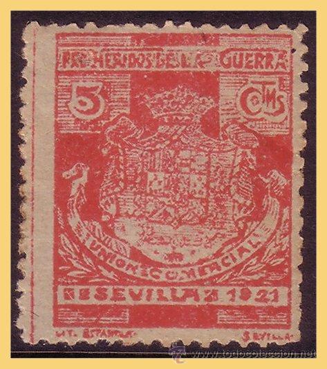 SEVILLA, 1921 PRO HERIDOS DE LA GUERRA, 5 CTS ROJO * (Sellos - España - Guerra Civil - Viñetas - Nuevos)