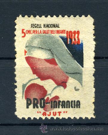 PRO INFANCIA 1933 , 5 CTS. GUERRA CIVIL , ORIGINAL , N 10 (Sellos - España - Guerra Civil - De 1.936 a 1.939 - Nuevos)