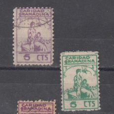 Sellos: ,,LOCAL NACIONALISTA GRANADA 317, 317A, 318 USADA, CARIDAD GRANADINA, . Lote 146363169