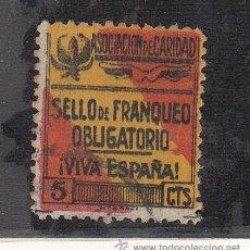Sellos: ,,LOCAL NACIONALISTA GRANADA 311AA USADA CORREOS, VARIEDAD SIN SEPALOS, ASOCIACION DE CARIDAD . Lote 29028555
