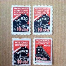 Sellos: ESPECTACULAR SERIE DE 5 SELLOS DE TRENES Y MZA. SELLOS BASTANTE RAROS.. Lote 28864890