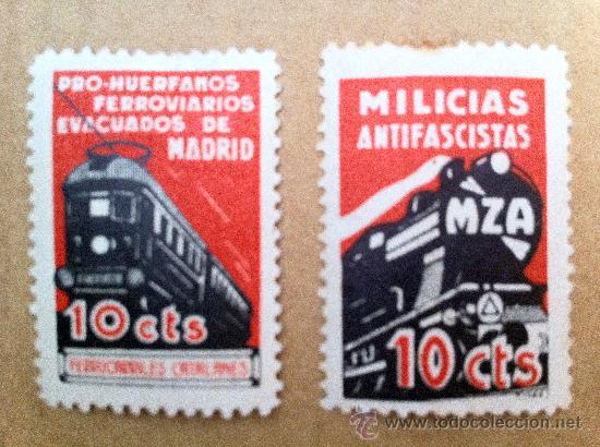 Sellos: Espectacular serie de 5 Sellos de trenes y MZA. Sellos bastante raros. - Foto 3 - 28864890