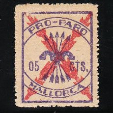 Sellos: ,,LOCAL NACIONALISTA MALLORCA 429A CON CHARNELA, 5 CTS. PRO PARO, . Lote 28906120