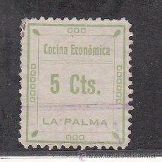 Sellos: ,,LOCAL NACIONALISTA LA PALMA DEL CONDADO (HUELVA) 390 USADA, 5 CTS. COCINA ECONOMICA. Lote 245267700