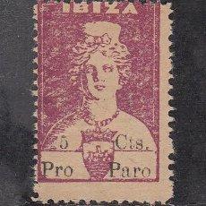 Sellos: ,,LOCAL NACIONALISTA IBIZA (BALEARES) 372A SIN GOMA, 5 CTS. VIOLETA PRO PARO. Lote 28928074