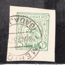 Sellos: ,,LOCAL NACIONALISTA BADAJOZ 114 SIN DENTAR USADA CORREOS, PARO OBRERO, . Lote 29157172