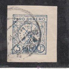 Sellos: ,,LOCAL NACIONALISTA BADAJOZ 112 SIN DENTAR USADA CORREOS, PARO OBRERO, . Lote 29181132