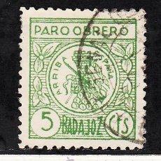 Sellos: ,,LOCAL NACIONALISTA BADAJOZ 107 USADA CORREOS, PARO OBRERO, . Lote 29189780