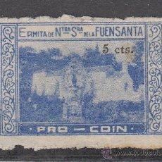Sellos: ,,LOCAL NACIONALISTA COIN (MALAGA) B201 USADA, 5 CTS. ERMITA FUENSANTA, RARO . Lote 29073415