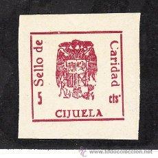Sellos: ,,LOCAL NACIONALISTA CIJUELA (GRANADA) B192 SIN DENTAR SIN CHARNELA, VARIEDAD PUNTO DE CTS(.) ARRIBA. Lote 29085419