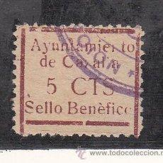Sellos: ,,LOCAL NACIONALISTA CAZALLA (SEVILLA) 210 USADA, VDAD ACENTO GRAVE, LETRAS ROTAS -N-, -Z-, -L-, -O-. Lote 29085480