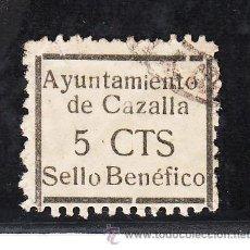 Sellos: ,,LOCAL NACIONALISTA CAZALLA (SEVILLA) 207 USADA, VARIEDAD -I- PEQUEÑA EN AYUNTAMIENTO . Lote 29085762