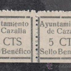 Sellos: ,,LOCAL NACIONALISTA CAZALLA (SEVILLA) 207 PAREJA SIN CHARNELA, VDAD CALCADO, SELLO IZDA -I- PEQUEÑA. Lote 29085773