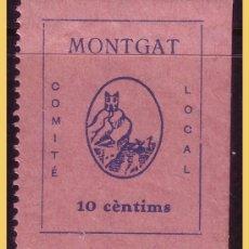 Sellos: BARCELONA MONTGAT, GUERRA CIVIL, FESOFI Nº 8 *. Lote 29094779