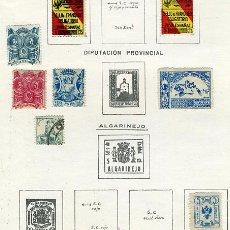 Sellos: LOTE 8 SELLOS, GUERRA CIVIL, NACIONAL SINDICALISTA, GRANADA , ORIGINALES, H6. Lote 29139569
