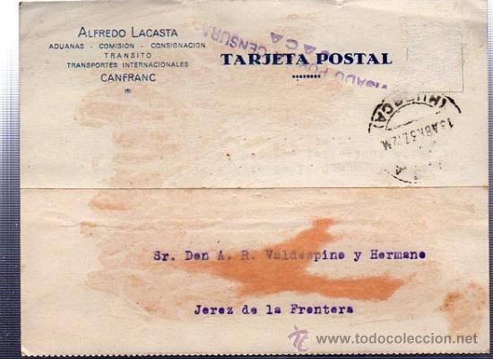 CENSURA MILITAR, JACA, JEREZ DE LA FRONTERA (Sellos - España - Guerra Civil - De 1.936 a 1.939 - Cartas)