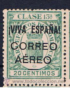 BURGOS 1936 SOBRECARGA VIVA ESPAÑA CORREO AEREO EDIFIL 62 NUEVO** VALOR 2011 CATALOGO 13 EUROS (Sellos - España - Guerra Civil - Locales - Nuevos)